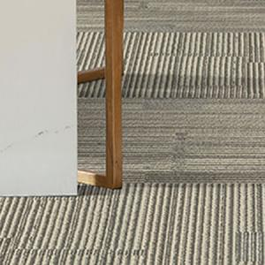Room scene with Kinematic carpet tiles in Modern Grey