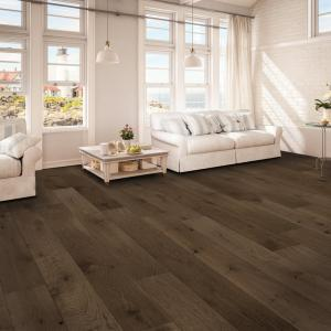 Room scene with Casa Loma engineered hardwood flooring in Stable